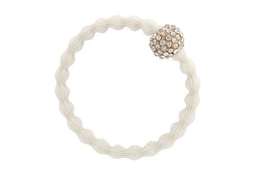 By Eloise Haarelastiek / Armband Snow Ball Ivory