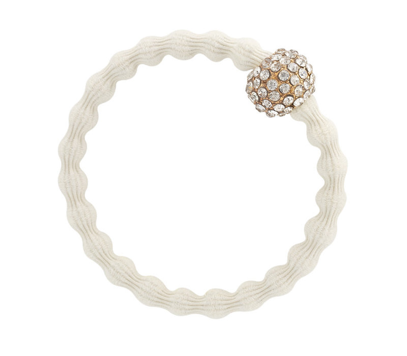 By Eloise Hair Tie / Bracelet Snow Ball Ivory