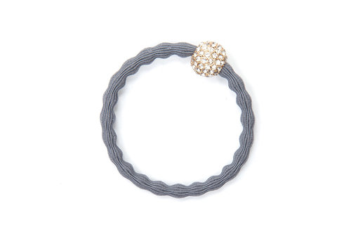 By Eloise Hair Tie / Bracelet Snow Ball Storm Grey