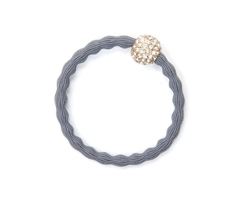 By Eloise Hair Tie / Bracelet Snow Ball Storm Grey