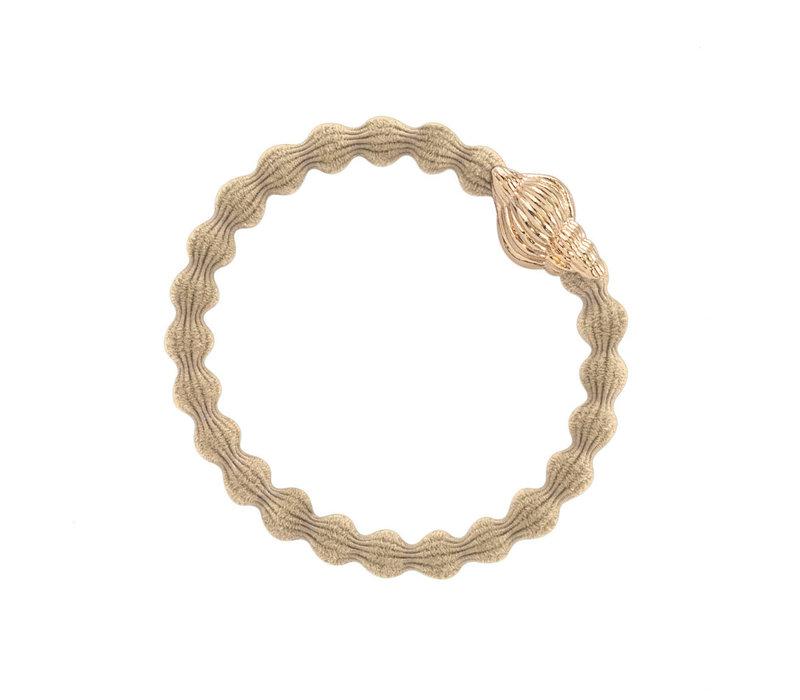 By Eloise Hair Tie / Bracelet Tropical Seashell Sand