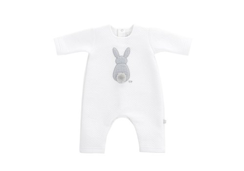 Theophile & Patachou Theophile & Patachou Baby All In One Jersey Padded Bunny White - Grey