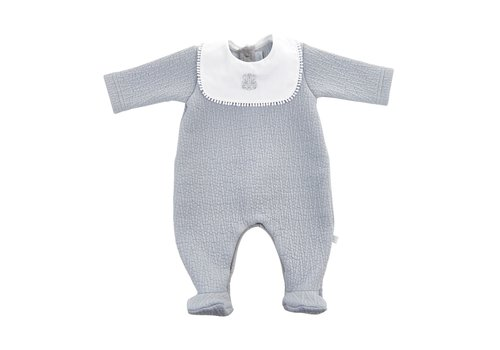 Theophile & Patachou Theophile & Patachou Baby All In One Jersey Padded Royal Grey