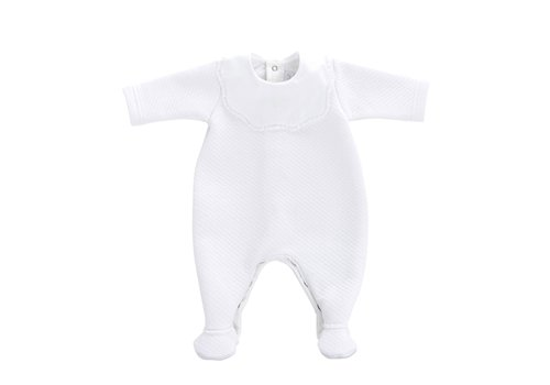 Theophile & Patachou Theophile & Patachou Baby All In One Jersey Padded White
