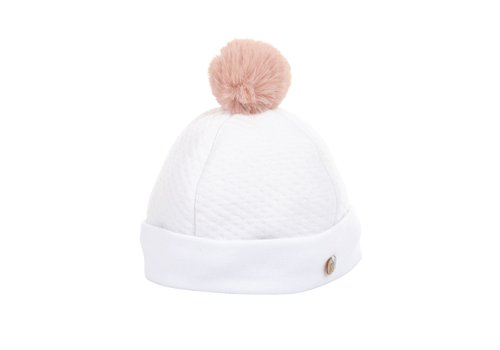 Theophile & Patachou Theophile & Patachou Hat Jersey Padded Pompon Pink