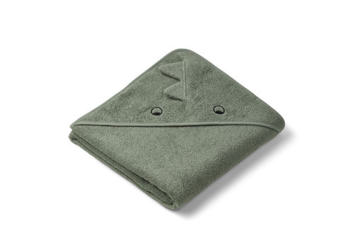 Liewood Liewood Hooded Towel Dino Faune Green