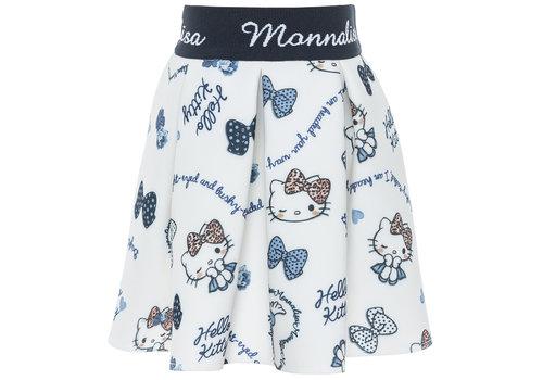 Monnalisa Monnalisa Rok Hello Kitty Wit - Blauw