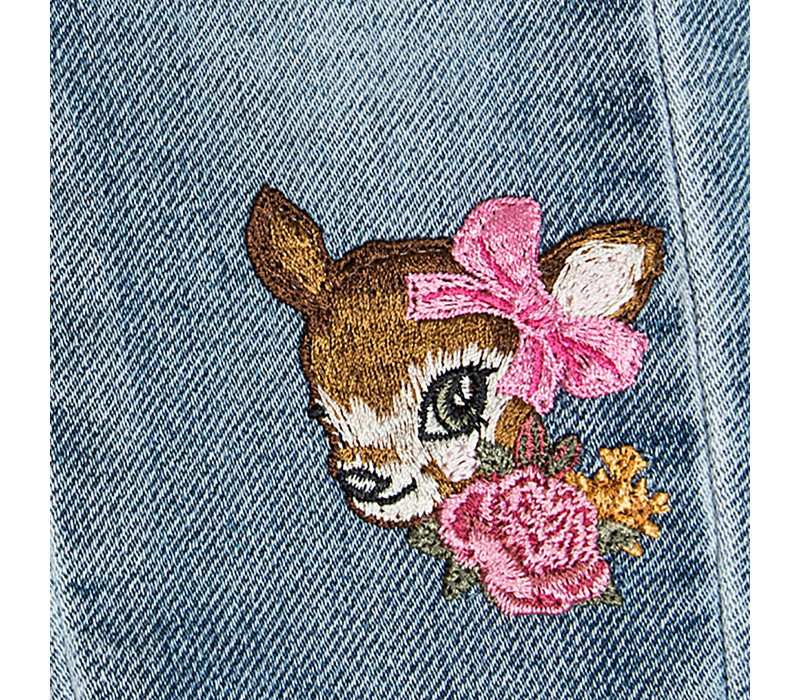 Monnalisa Jeansbroek Soft Stone Bambi