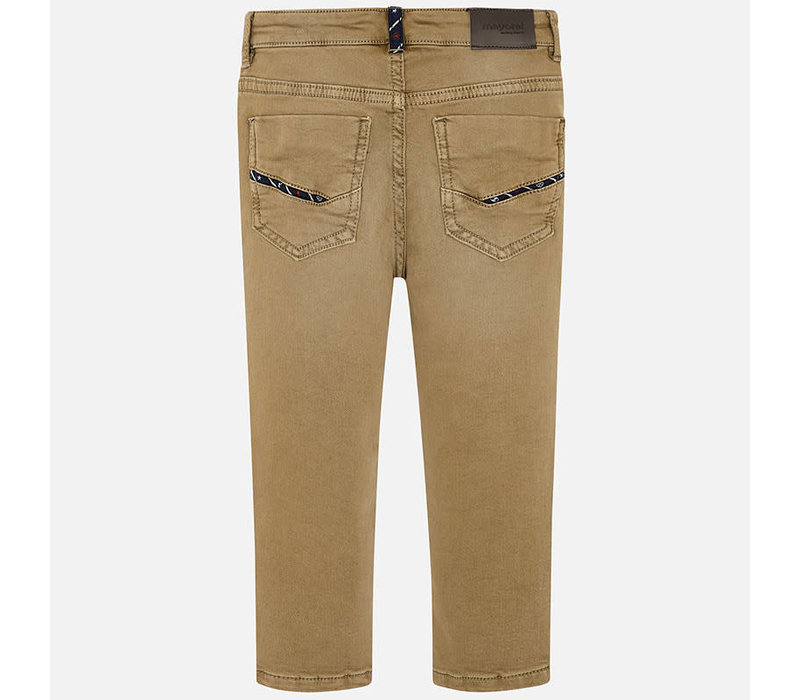 Mayoral Soft Slim Fit Pants Brown