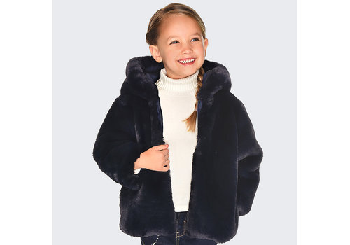 Mayoral Mayoral Reversible Fur Jacket Navy