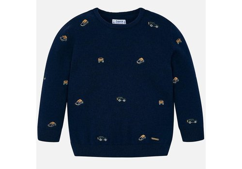 Mayoral Mayoral Embroidered Sweater Ink