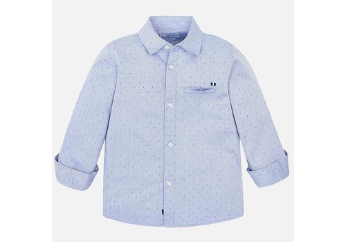 Mayoral Mayoral L/S Printed Twill Shirt Lightblue
