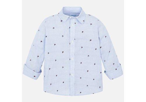 Mayoral Mayoral L/S Jacquard Shirt Lightblue