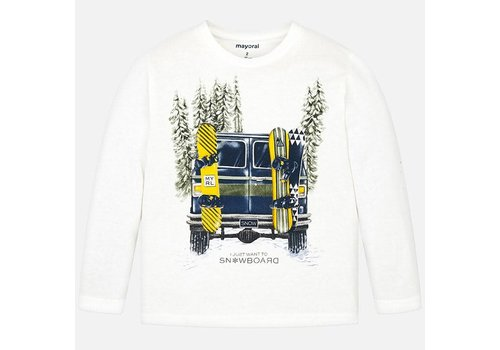 Mayoral Mayoral L/S Shirt Cars Cream