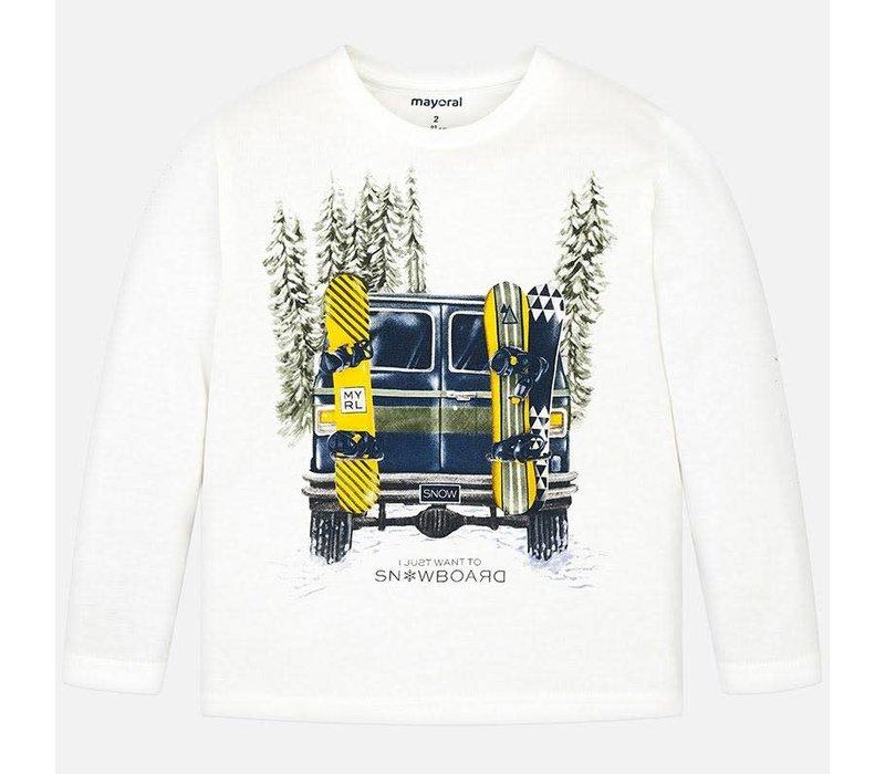 Mayoral L/S Shirt Cars Cream