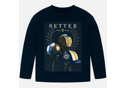 "Mayoral Mayoral L/S ""Better"" T-Shirt Navy"