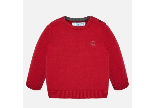 Mayoral Mayoral Basic Crew Neck Sweater Red