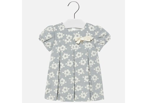 Mayoral Mayoral Flowers Jacquard Dress Silver