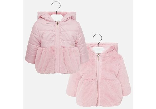 Mayoral Mayoral Reversible Fur Jacket Rose