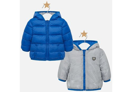 Mayoral Mayoral Reversible Coat Blue