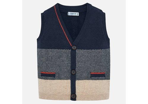 Mayoral Mayoral Knitting Vest Dark Blue