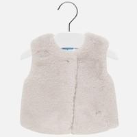 Mayoral Fur Vest Beige