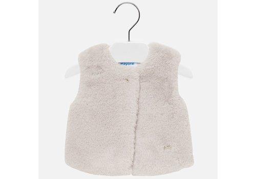 Mayoral Mayoral Fur Vest Beige