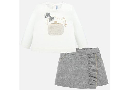 Mayoral Mayoral Bermuda Shorts & Shirt Set Silver