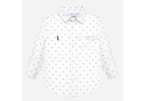 Mayoral Mayoral L/S Jacquard Shirt White
