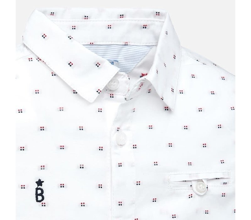 Mayoral L/S Jacquard Shirt White