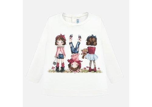 Mayoral Mayoral L/S Printed T-Shirt Natur-Pink