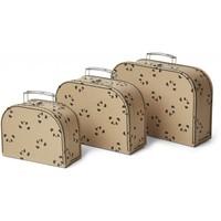 Liewood Poppin Suitcase Cat Rose 3 Stuks