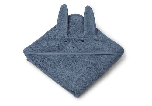 Liewood Liewood Baby Badcape Rabbit Blue Wave