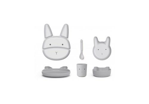 Liewood Liewood Jules Junior Bamboo Set Rabbit Dumbo Grey