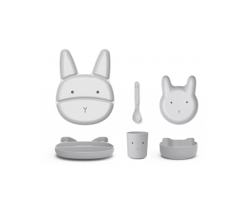 Liewood Jules Junior Bamboo Set Rabbit Dumbo Grey