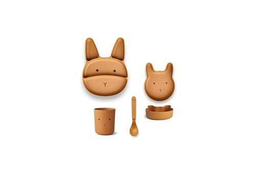 Liewood Liewood Jules Junior Bamboo Set Rabbit Mustard
