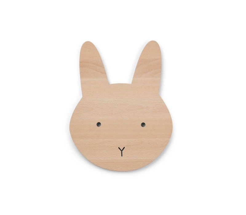 Liewood Troy Wooden Lamp Rabbit Natural