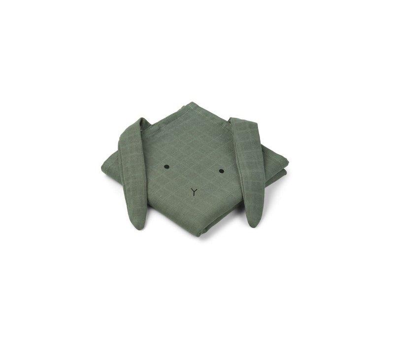Liewood Tetradoeken Rabbit Groen 2-Pack