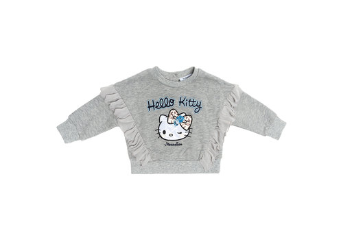 Monnalisa Monnalisa Sweater Hello Kitty Grijs - Blauw