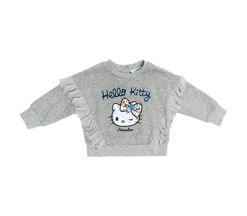 Monnalisa Sweater Hello Kitty Grijs - Blauw