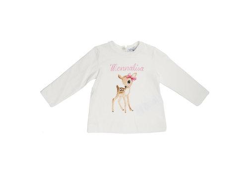 Monnalisa Monnalisa T-Shirt Bambi Wit