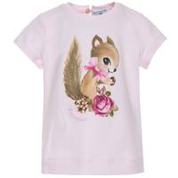 Monnalisa T-Shirt Eekhoorn Antiek Roze