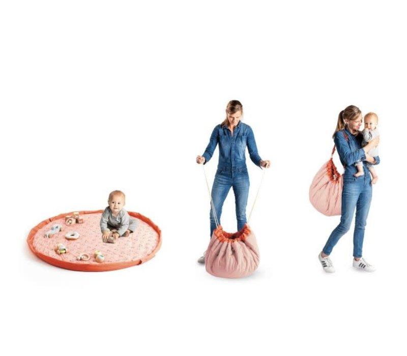 Play & Go Opbergzak - Speelmat Dierengezichtjes Baby