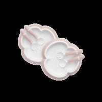 Babybjorn Babybord Lepel En Vork 2x Pastelroze