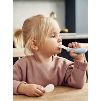 BABYBJÖRN Babylepel en Vork, 4-delig Pastelroze