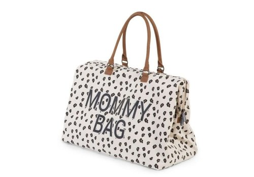 Childhome Childhome Mommy Bag Groot Canvas Leopard