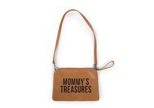 Childhome Childhome Mommy Clutch Toilettas Leatherlook Bruin