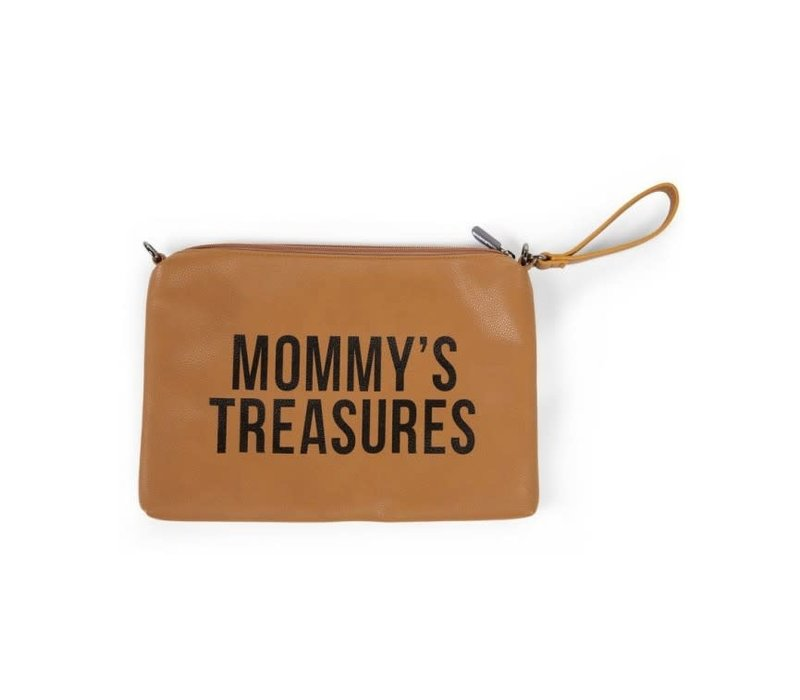 Childhome Mommy Clutch Toilettas Leatherlook Bruin