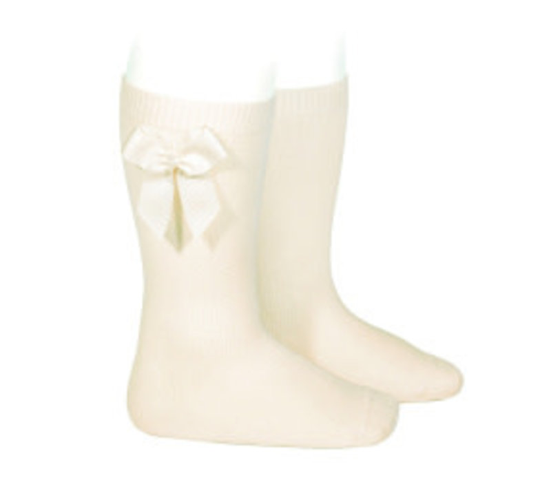 Condor Knee Socks With Bow Offwhite