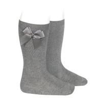Condor Knee Socks With Bow Grey